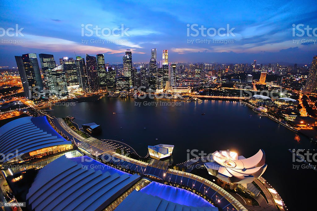 Cityscape of Singapore stock photo