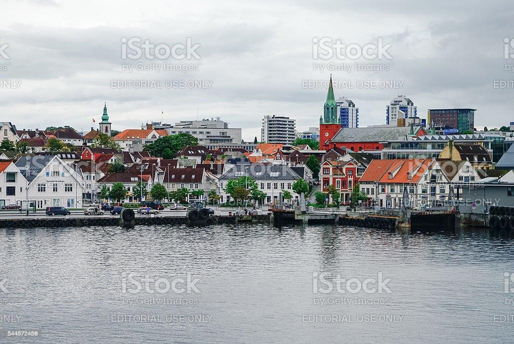 Cityscape of Stavanger, Norway stock photo