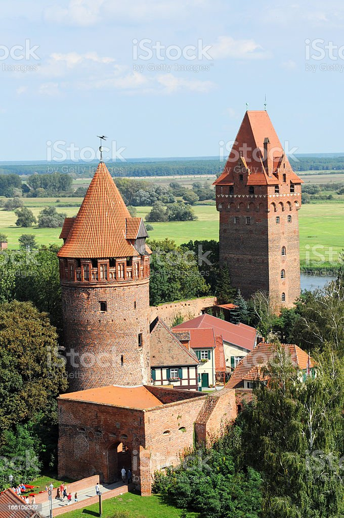 Cityscape of Tangermünde (Saxony-Anhalt Germany) stock photo