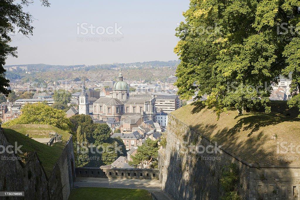 Cityscape of the city Namur in Belgium stock photo