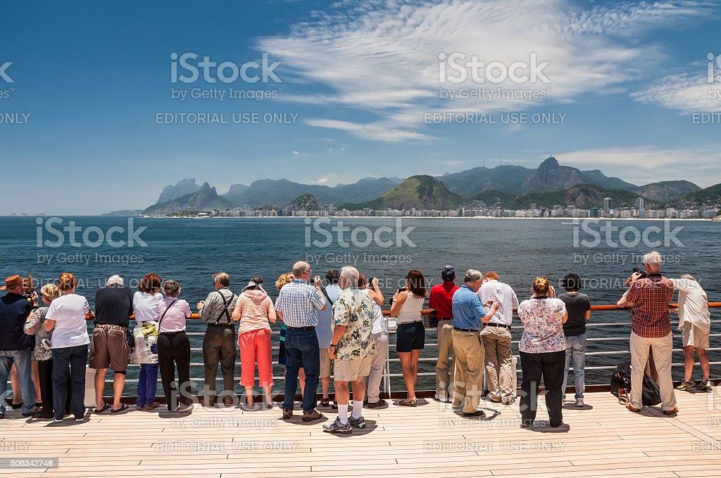 Cityscape of the city of Rio de Janeiro, Brazil stock photo