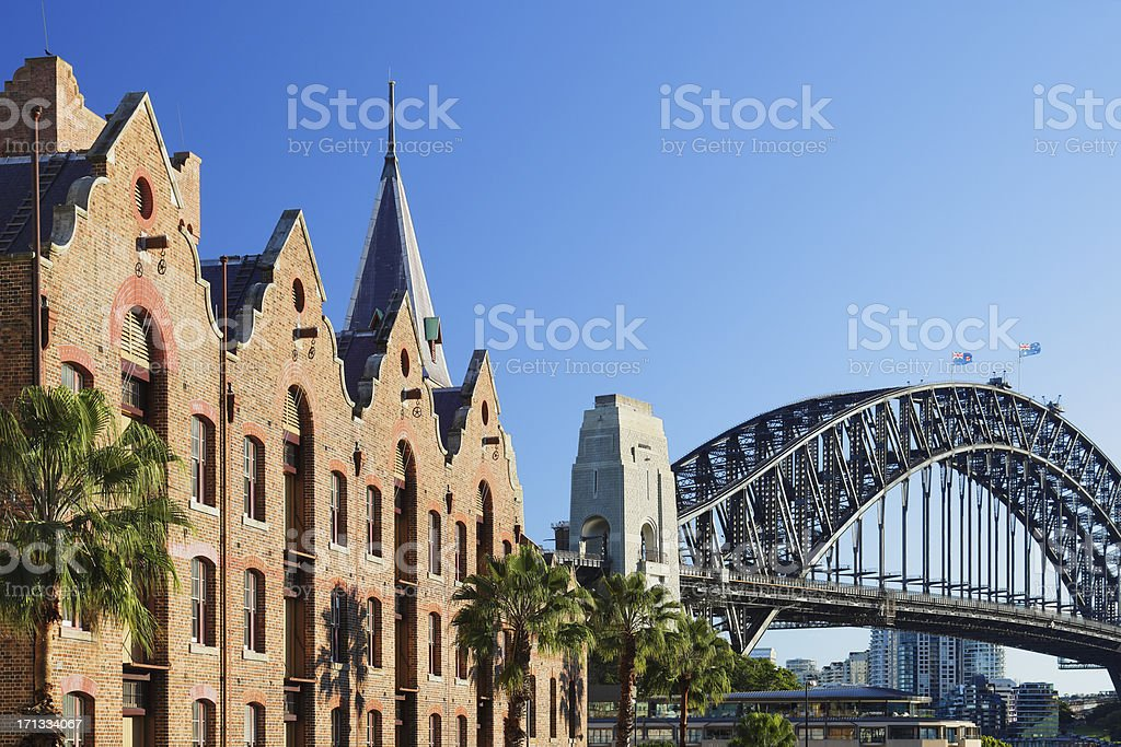 Cityscape of The Rocks in Sydney, Australia stock photo