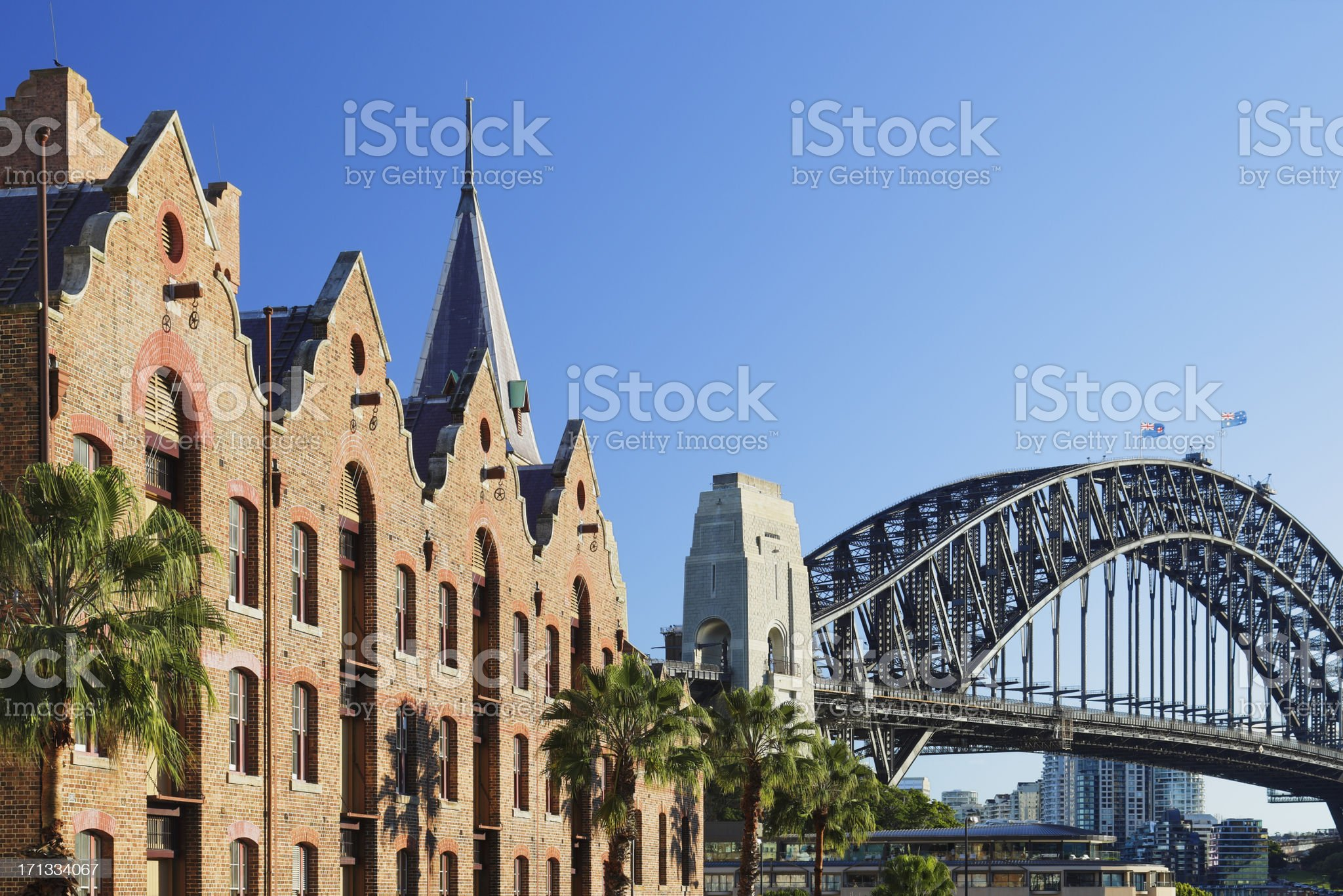 Cityscape of The Rocks in Sydney, Australia royalty-free stock photo
