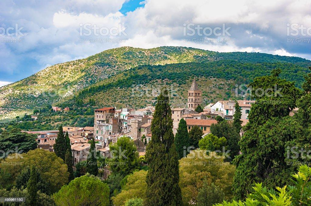 Cityscape of Tivoli stock photo