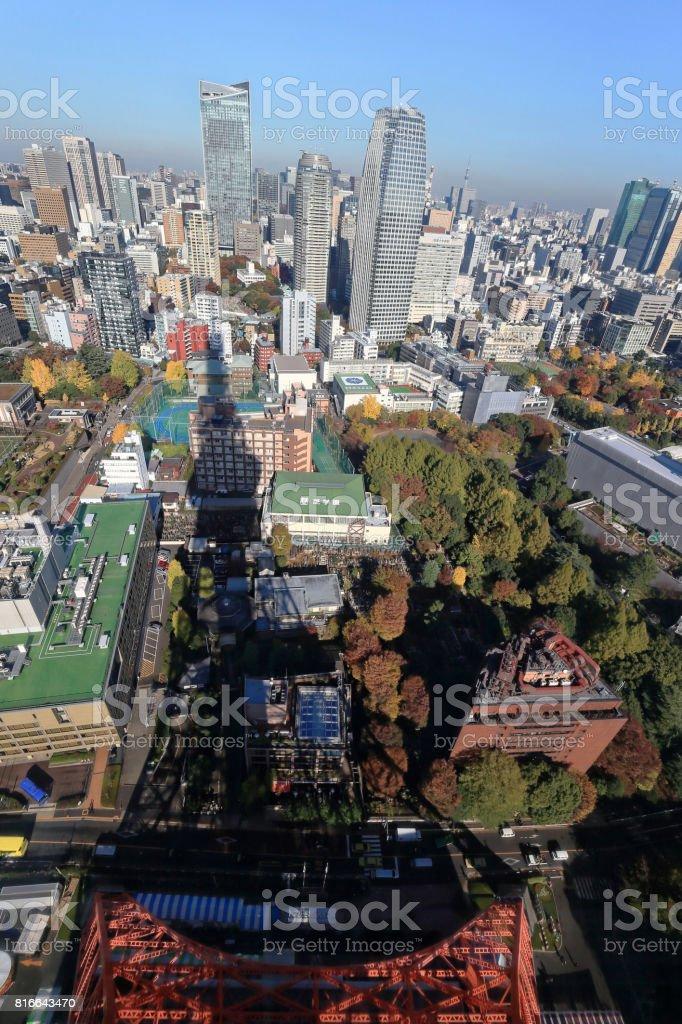 Cityscape of Tokyo City stock photo