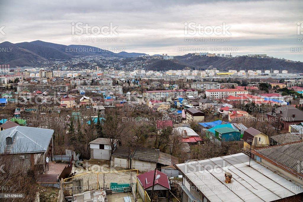 Cityscape of Tuapse. Russia stock photo