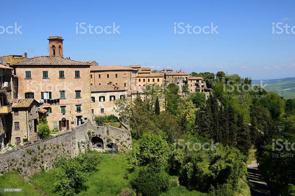 Cityscape of Volterra, Italy stock photo