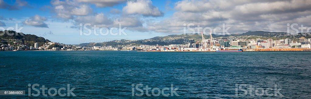 Cityscape of Wellington, New Zealand stock photo