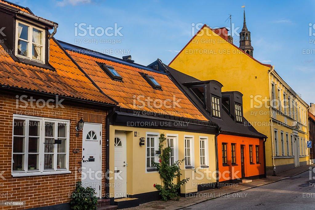 Cityscape of Ystad stock photo