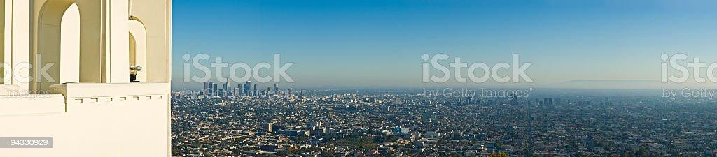 Cityscape overlook stock photo