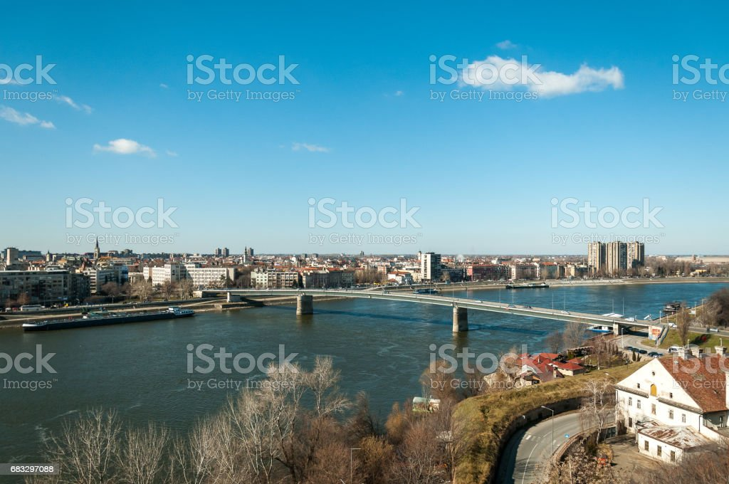 Cityscape. Panoramic view of Novi Sad, Serbia. stock photo