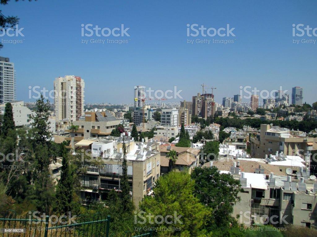 Cityscape, Ramat Gan, Israel stock photo
