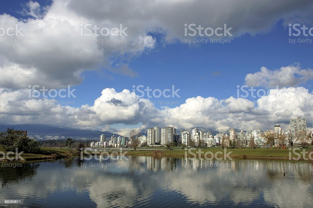 cityscape reflection royalty-free stock photo