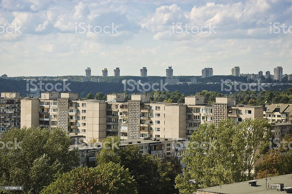 Cityscape, residential district stock photo