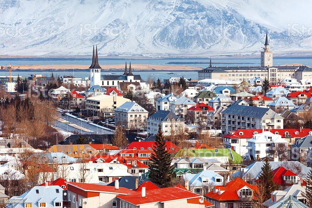 Cityscape Reykjavík, Iceland stock photo