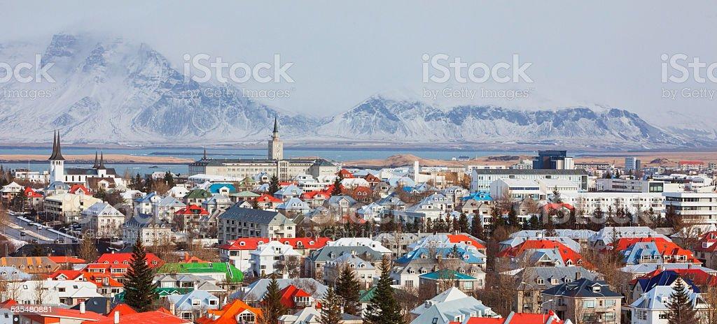 Cityscape Reykjav?k, Iceland stock photo