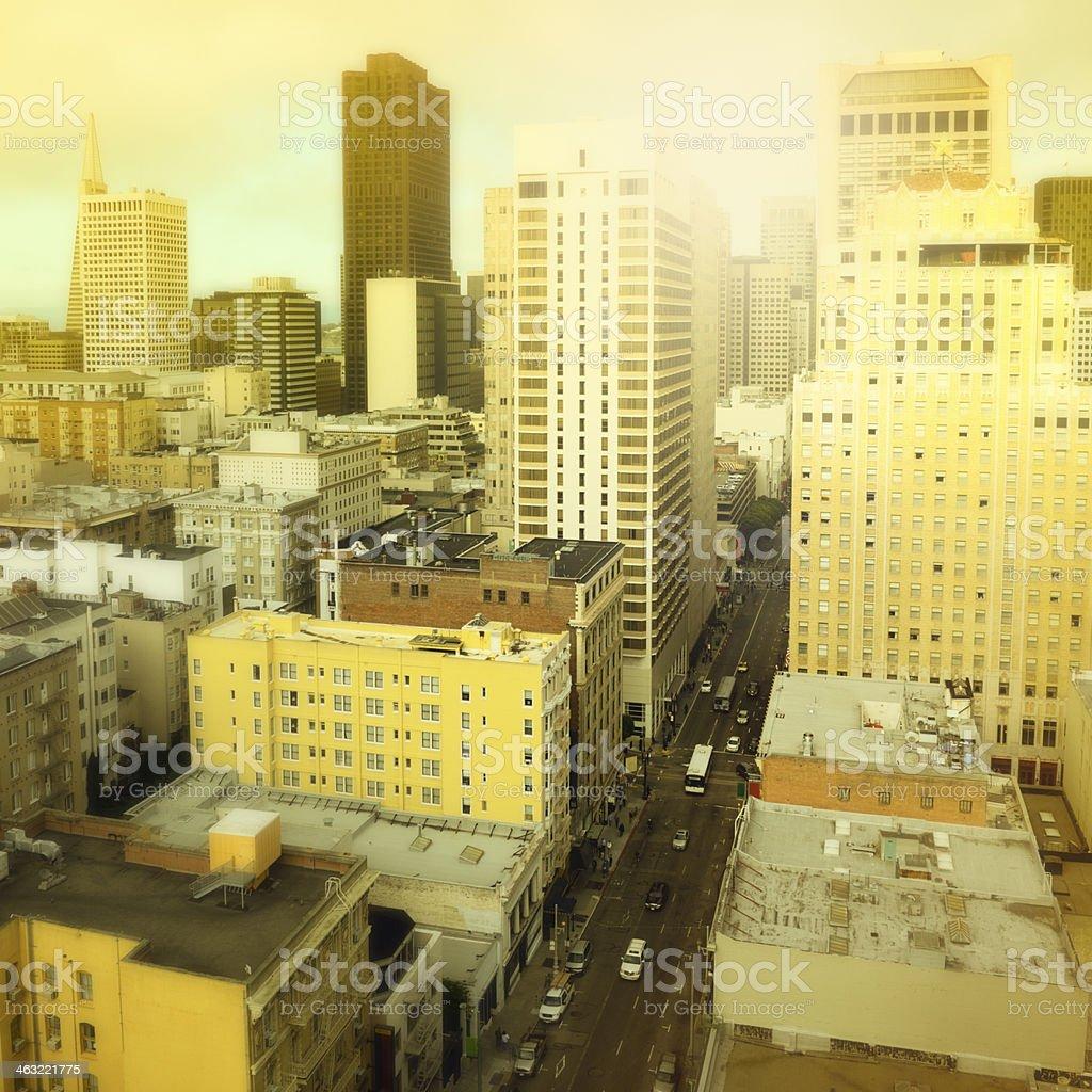 Cityscape, San Francisco, Aerial View. stock photo