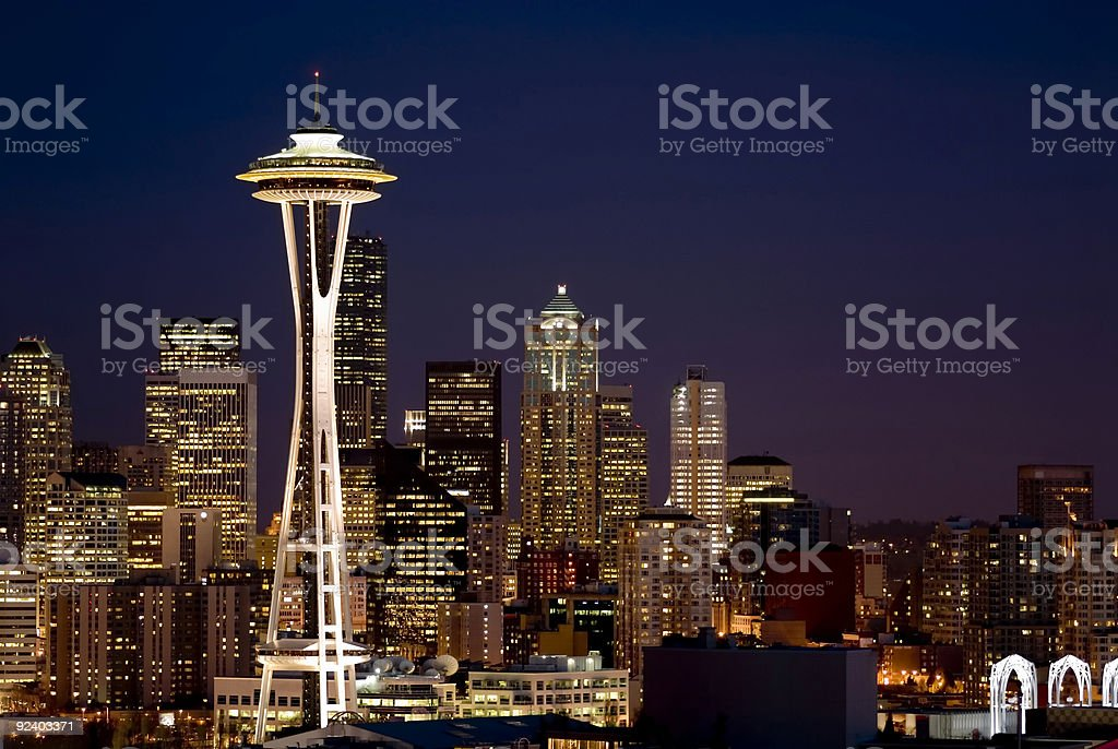 Cityscape - Seattle Skyline royalty-free stock photo