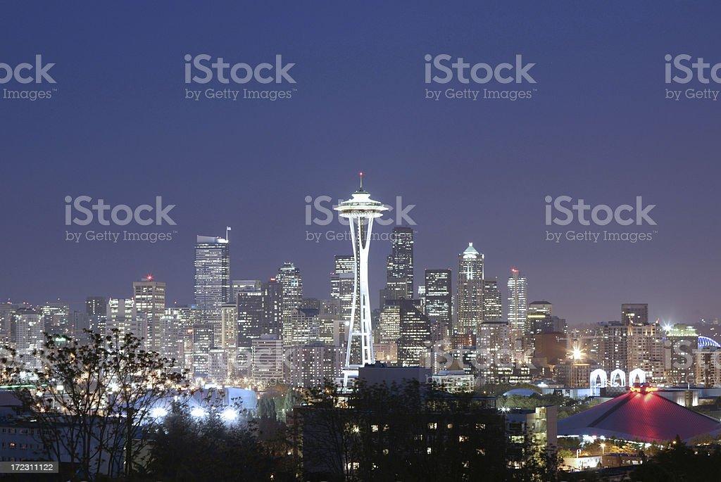 Cityscape - Seattle Space Needle stock photo
