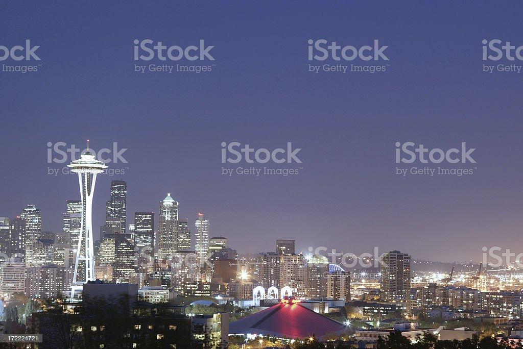 Cityscape - Seattle's Space Needle stock photo