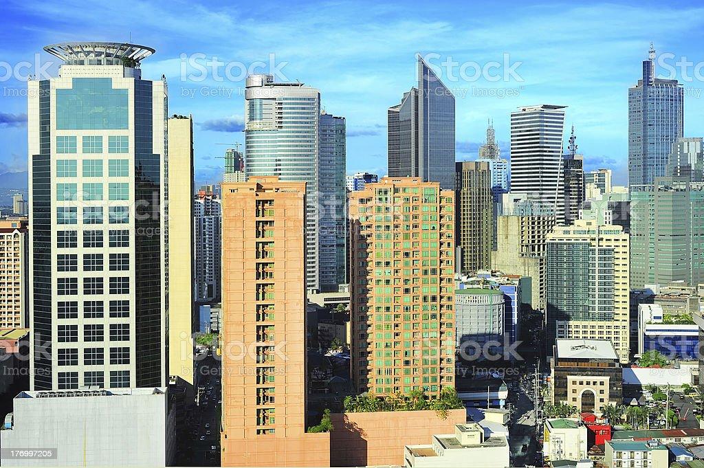 Cityscape skyline of Makati city royalty-free stock photo