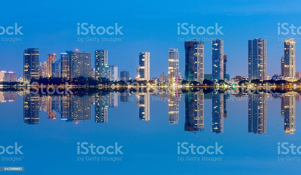 Cityscape, skyscraper and skyline building in George Town, Penang stock photo