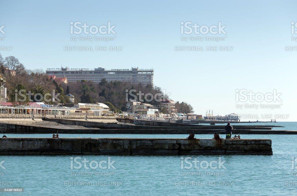 Cityscape. Sochi. Russia stock photo
