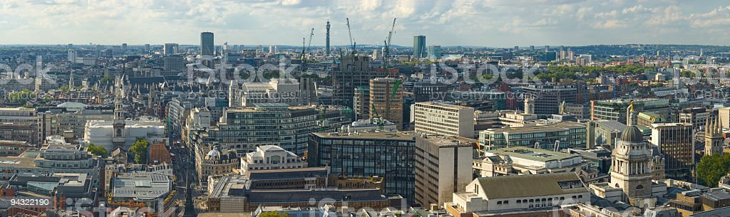 Cityscape, streets and rooftops stock photo