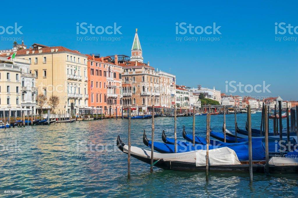 cityscape, the Grand Canal in Venice stock photo