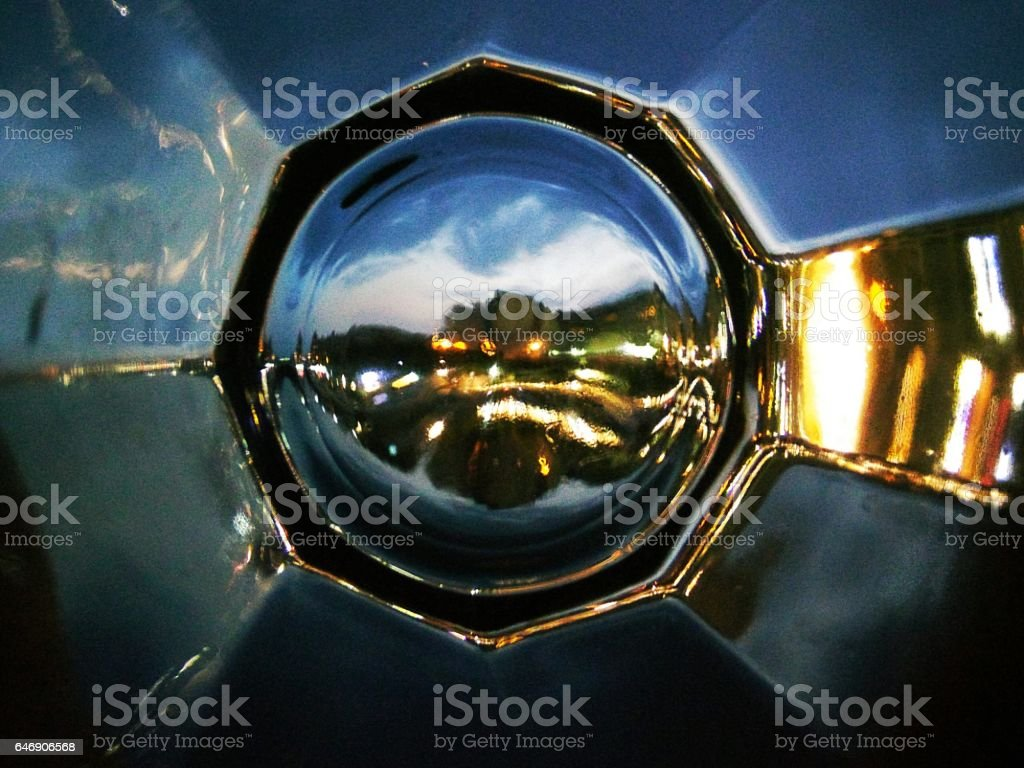 Cityscape Through Glass! stock photo