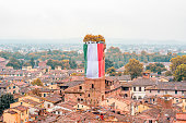 Cityscape view in Lucca old town
