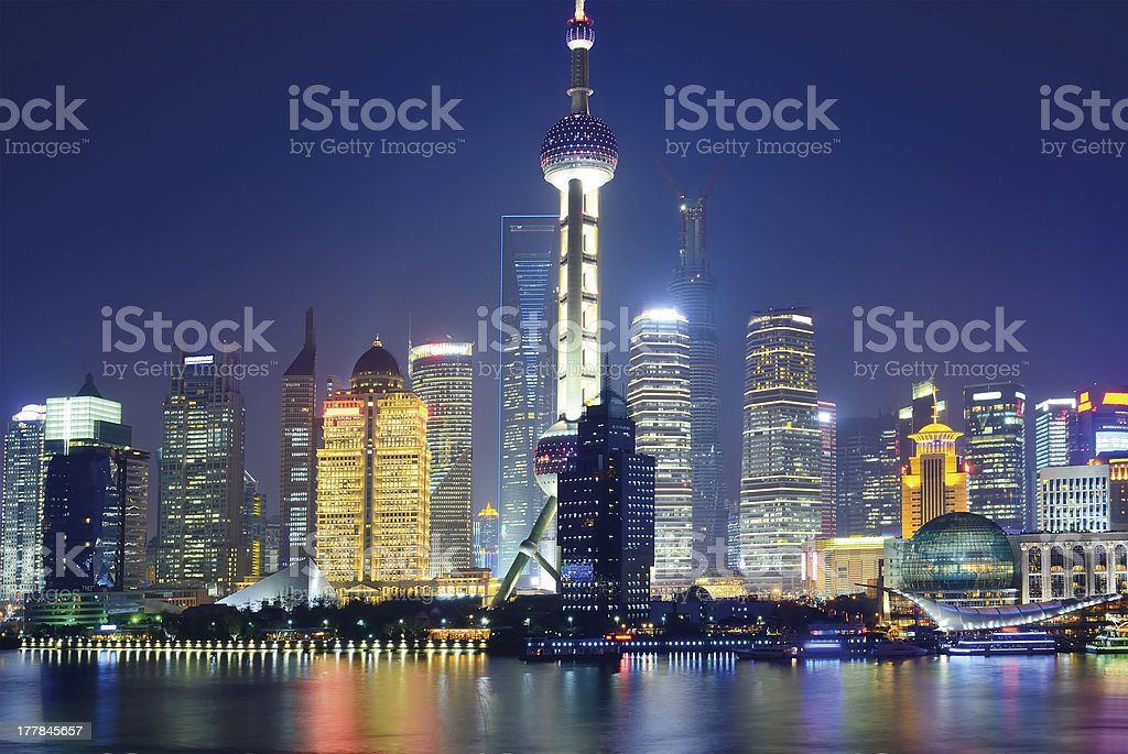 Cityscape view of Pudong, Shanghai royalty-free stock photo