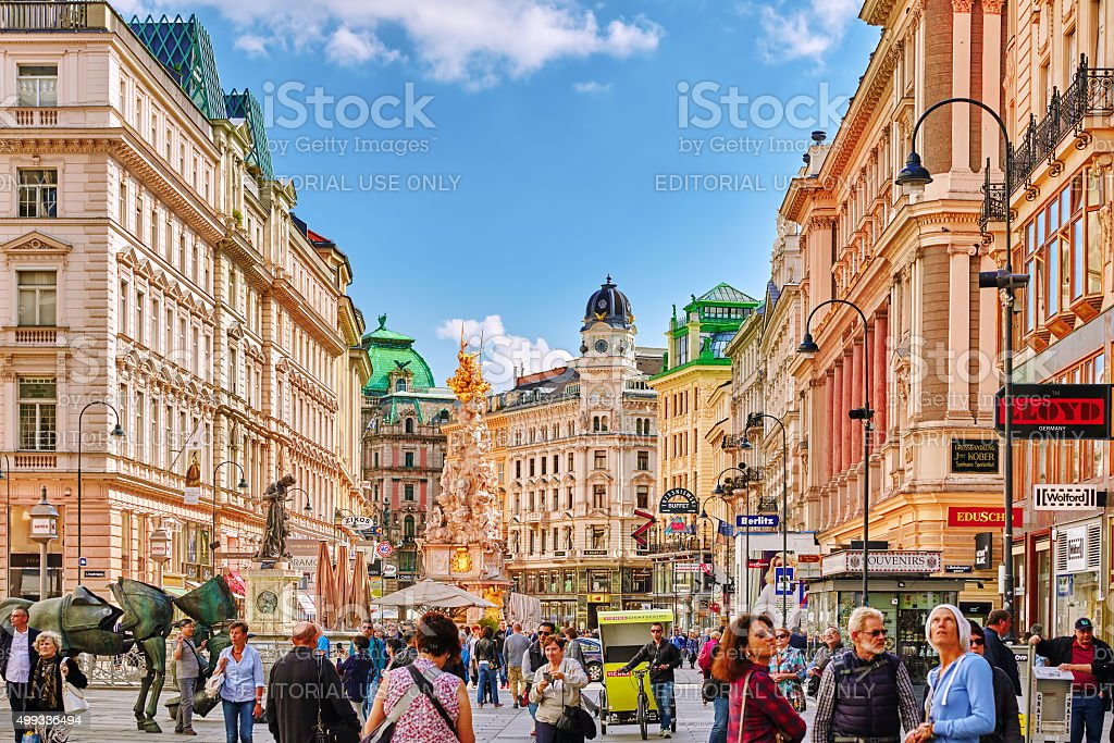 Cityscape  views of one of Europe's most beautiful town- Vienna. stock photo