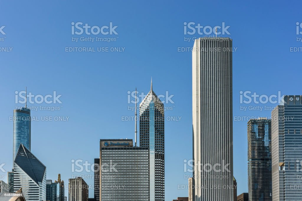 Cityscape with skyscrapers such as Prudential stock photo