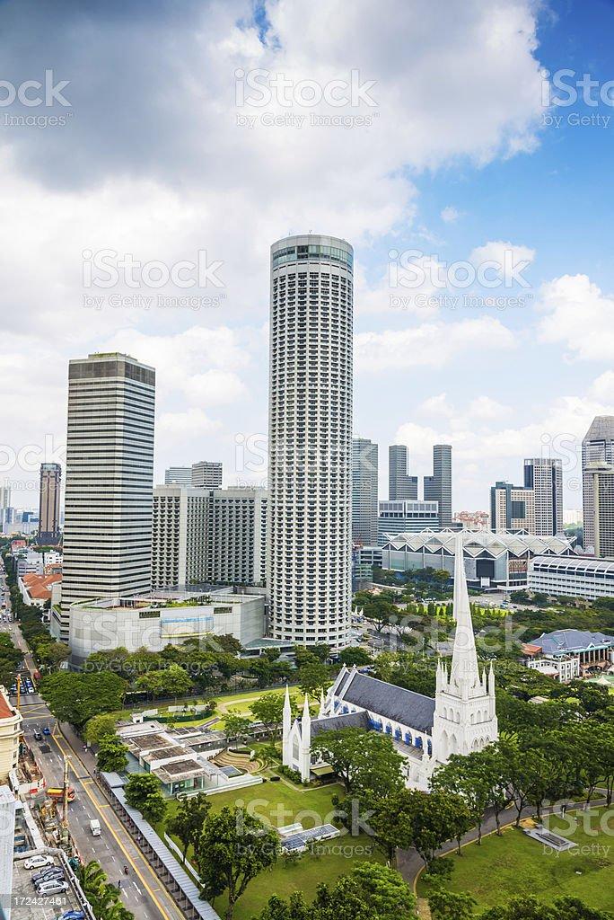 cityscaple of singapore royalty-free stock photo