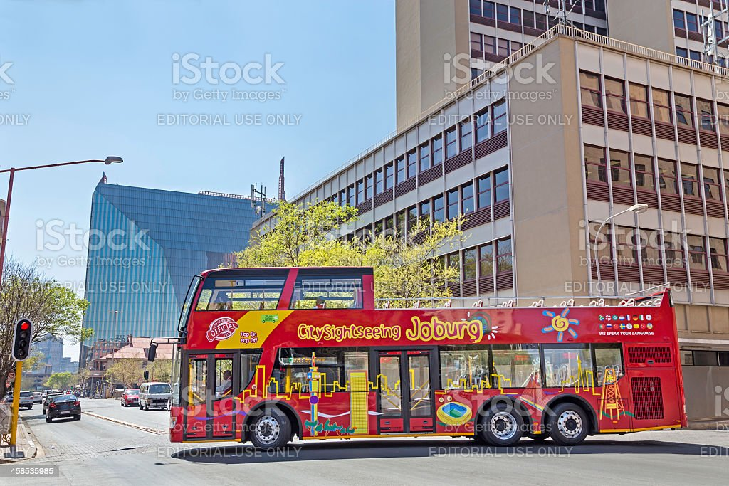 Citysightseeing Johannesburg bus royalty-free stock photo