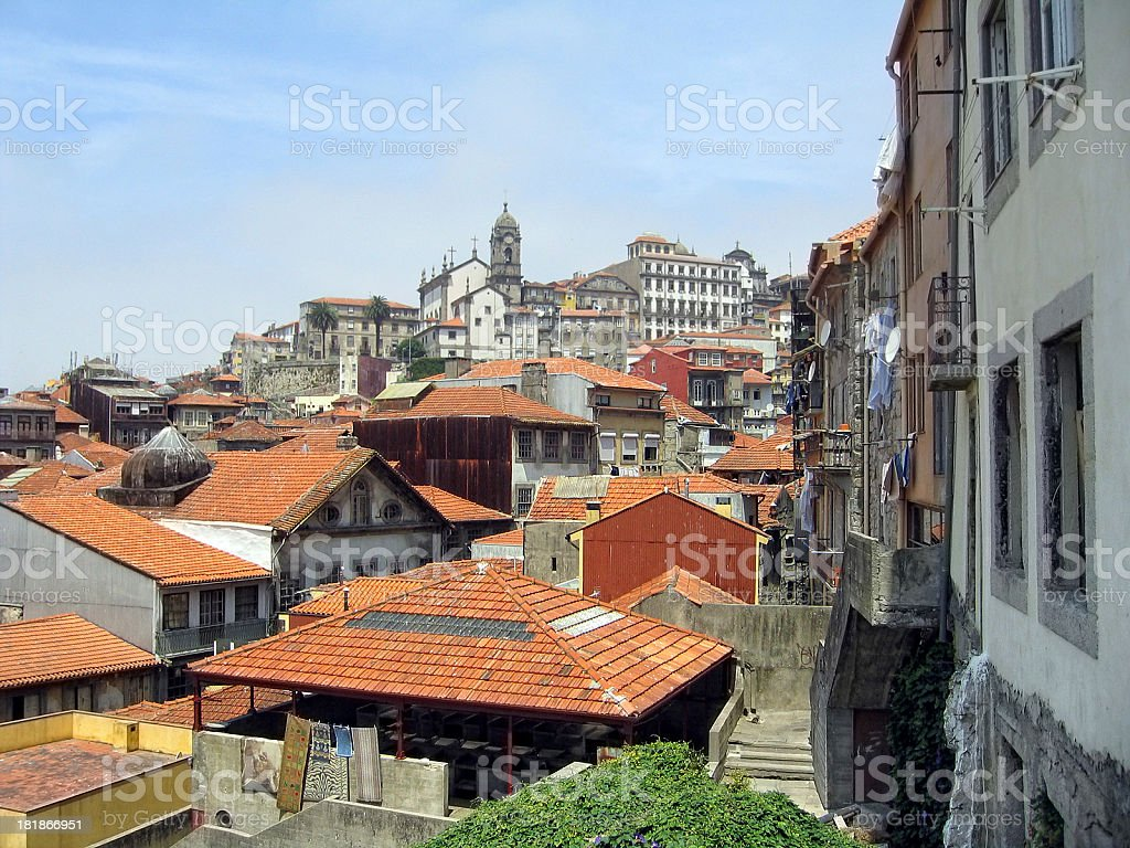 Cityspace of Porto (Portugal) royalty-free stock photo