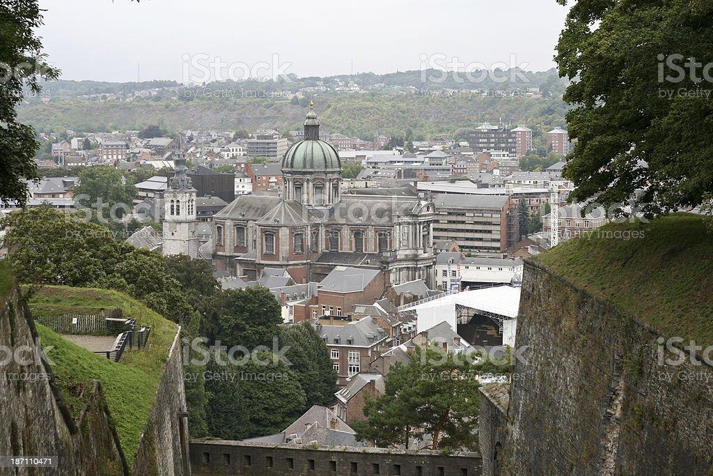 Cityview Namur capital of Wallonia Belgium stock photo