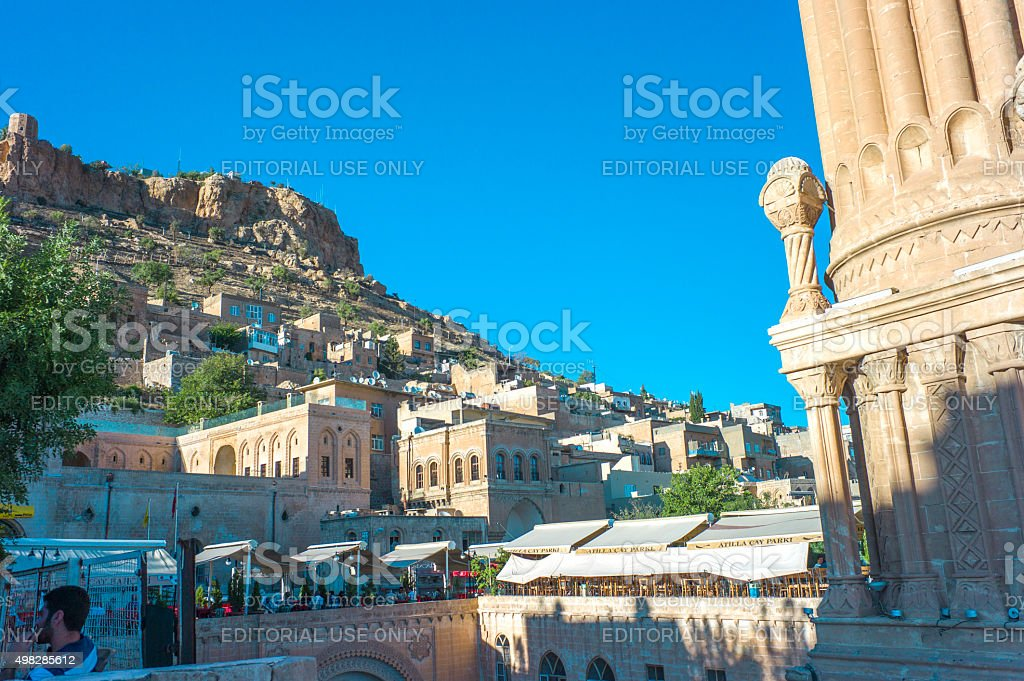 cityview of historical town mardin turkey stock photo