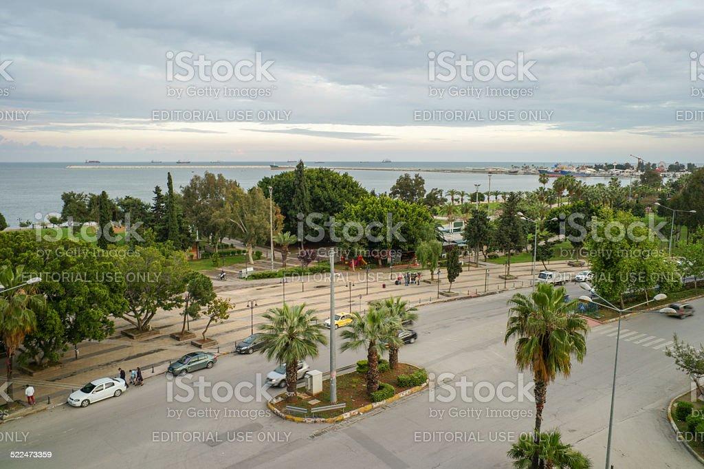 cityview of mersin in turkey stock photo