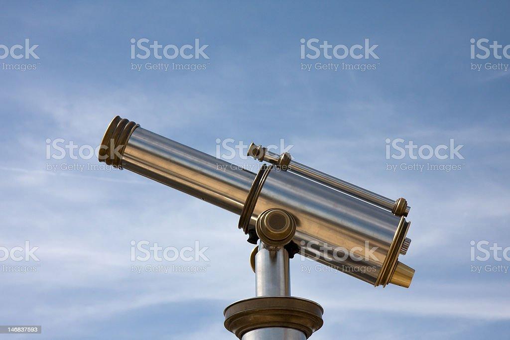 Cityview telescope stock photo