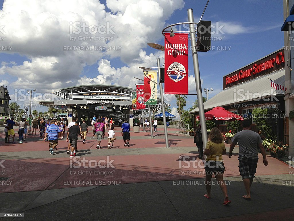 CityWalk at Universal Studios Orlando stock photo