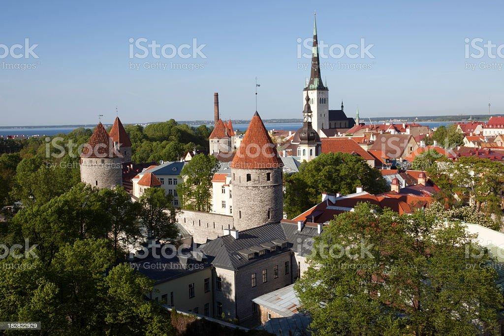City-Wall of Tallinn royalty-free stock photo