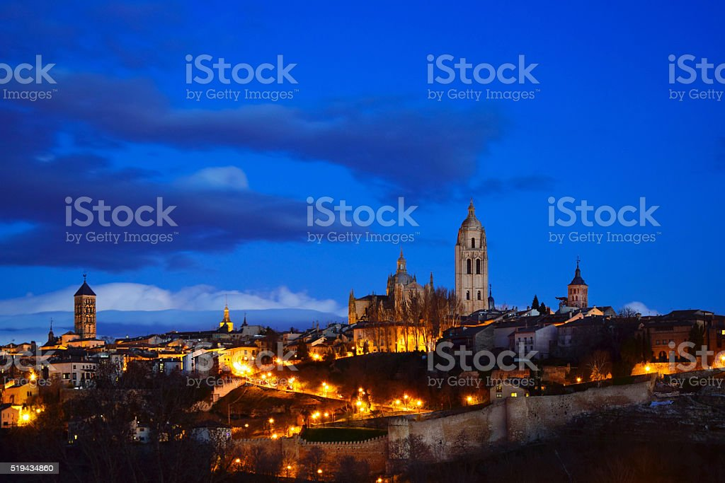 Ciudad de Segovia stock photo