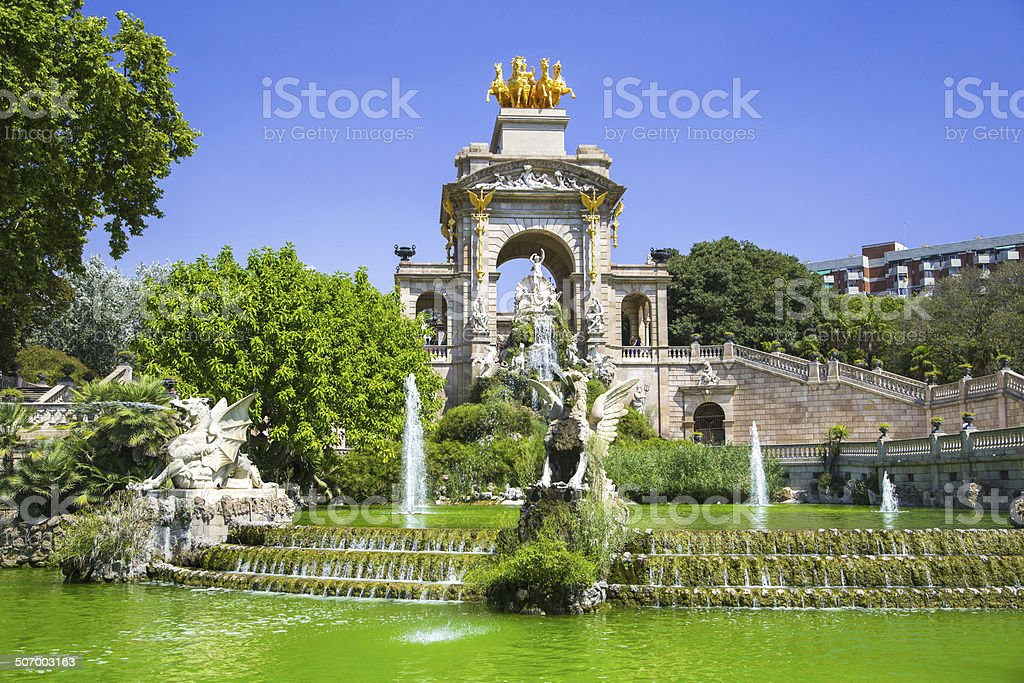 Ciudadela park in Barcelona, Spain stock photo