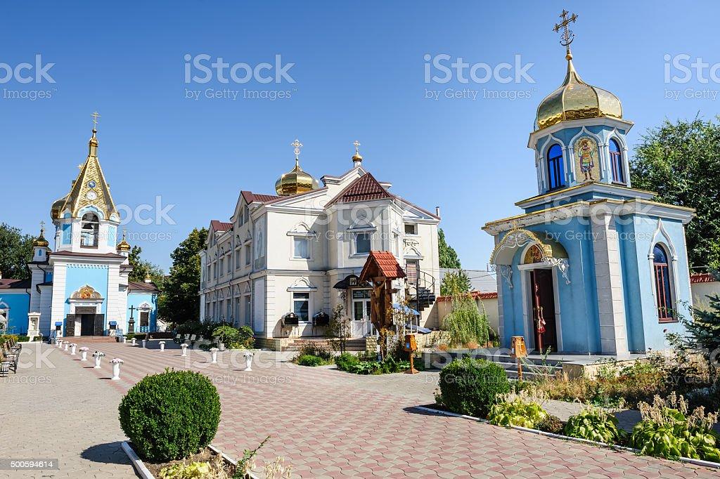 Ciuflea Monastery view stock photo