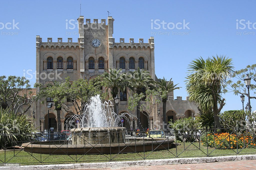 Ciutadella castle stock photo