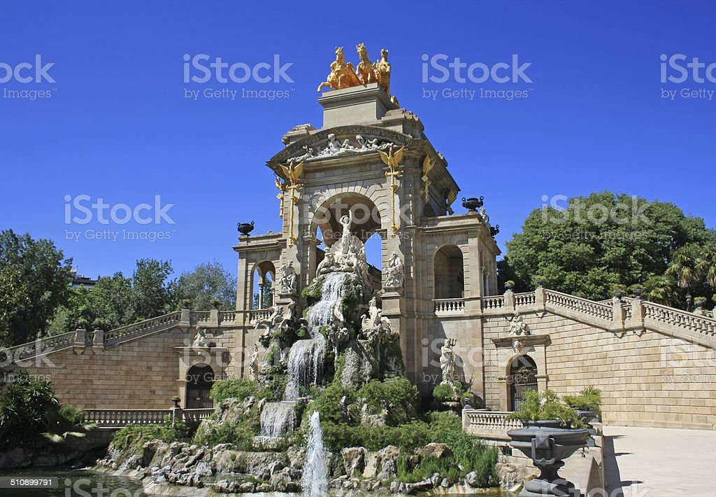 Ciutadella fountain stock photo