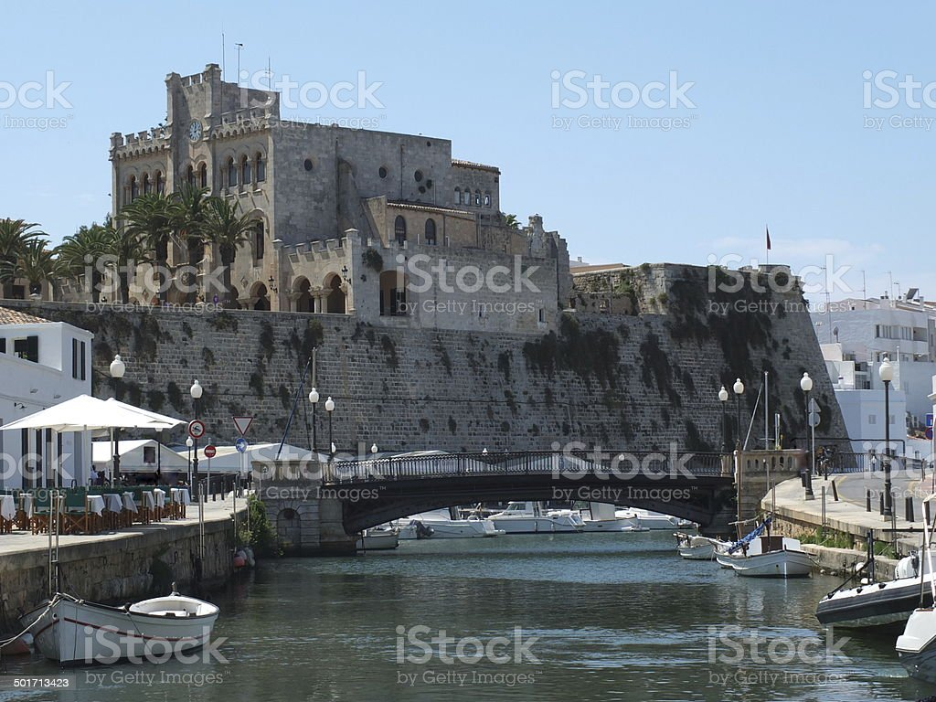 Ciutadella Harbour stock photo