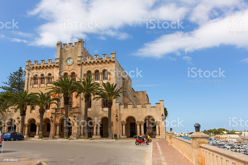 Ciutadella Menorca city Town Hall Ciudadela stock photo